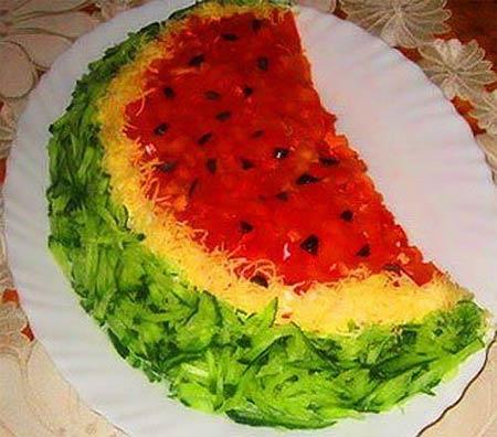 салат арбузная долька с фото рецепт