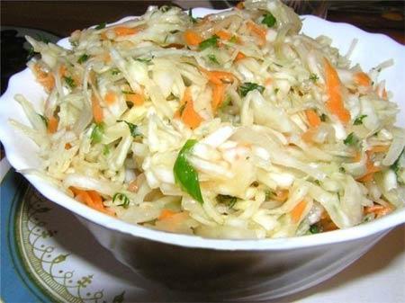 как приготовить салат из капусты кольраби