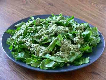 Салат со шпинатом и щавелем