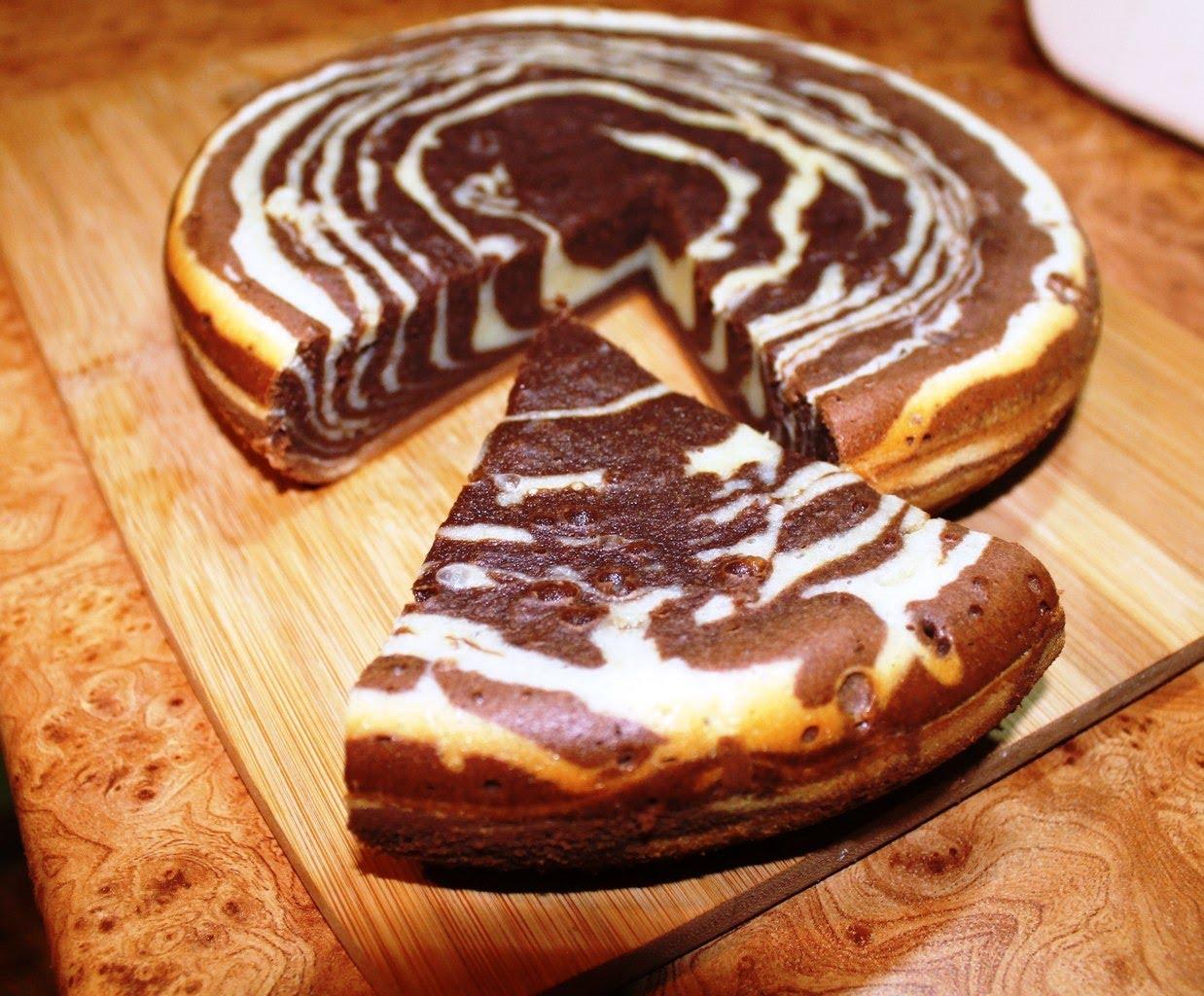 Простой рецепт торта зебра с фото