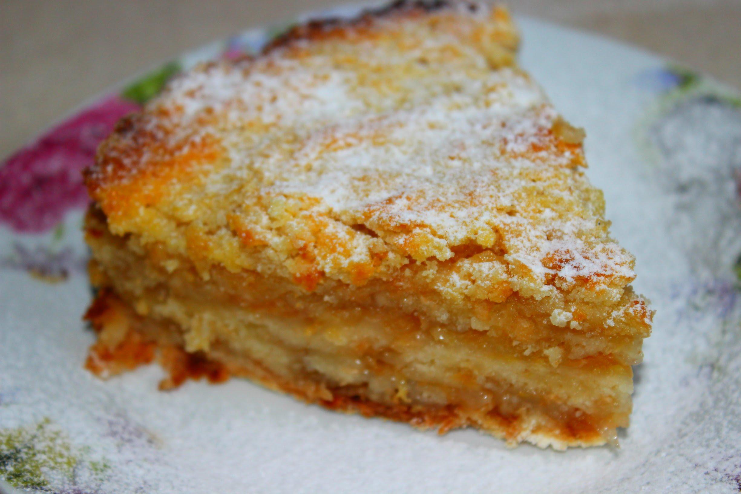 сухой яблочный торт рецепт