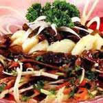 салаты из морской капусты с грибами