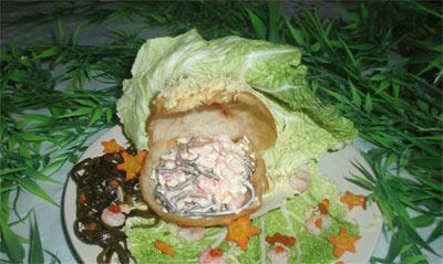 Салат Жемчужина с морской капустой