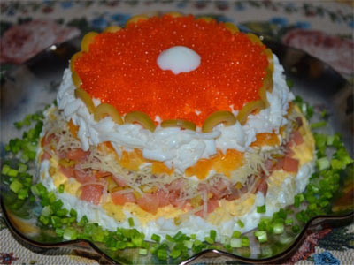 Салат Морская жемчужина » Рецепты - готовим дома