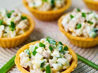 салат в тарталетки рецепты