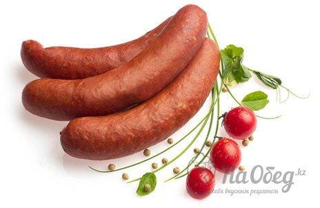 Колбаски свиные копчёные