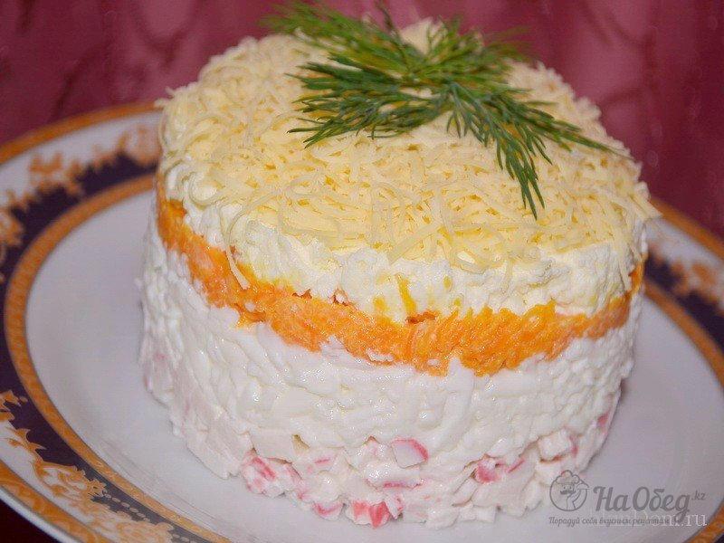Крабовый салат нежный рецепт с фото