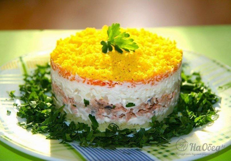 Салат мимоза с и рецептом