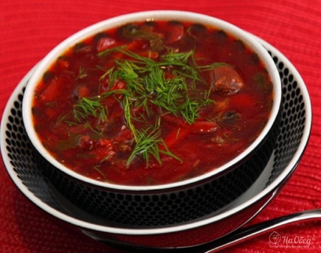 рецепт красного борща со свеклой с фото