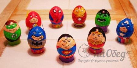 пасхальные яйца в стиле супер героев