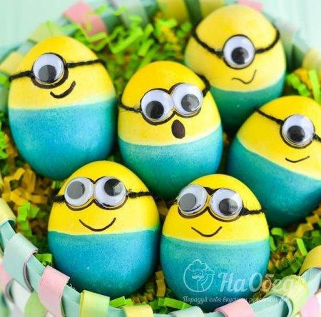 пасхальные яйца в стиле миньоны