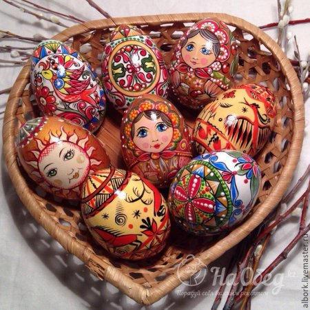 ручная работа мастеров по пасхальным яйцам