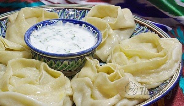 фото приготовление узбекские манты